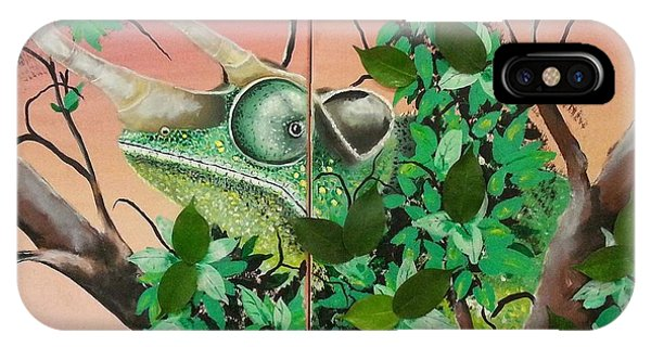 Trioceros Jacksonii Chameleon IPhone Case