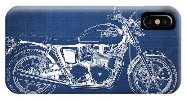 Vape iphone cases fine art america vape iphone case triumph bonneville se 2010 blueprint blue background by pablo franchi malvernweather Gallery