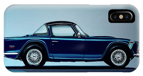 Oldtimer iPhone Case - Triumph Tr5 1968 Painting by Paul Meijering