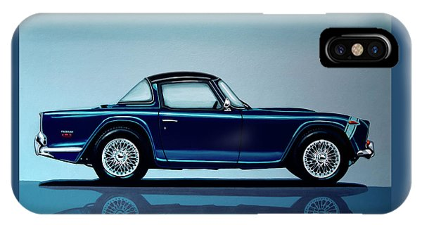 Vehicles iPhone Case - Triumph Tr5 1968 Painting by Paul Meijering