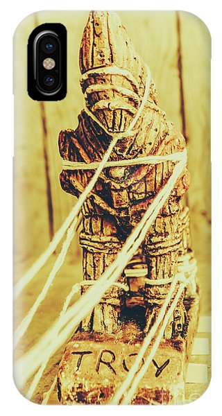 Turkey iPhone Case - Trojan Horse Wooden Toy Being Pulled By Ropes by Jorgo Photography - Wall Art Gallery