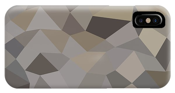Trolley Grey Abstract Low Polygon Background Phone Case by Aloysius Patrimonio