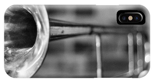 Trombone iPhone X Case - Trombone by David  Hubbs