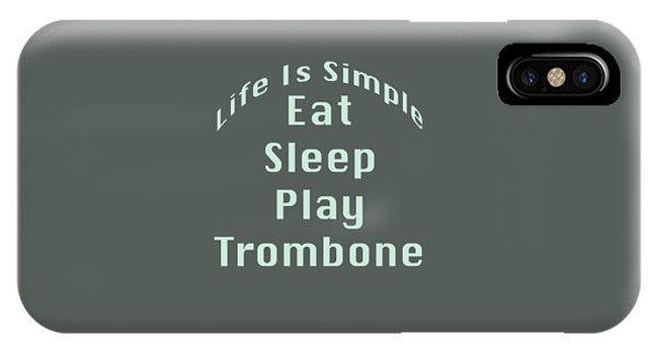 Trombone Eat Sleep Play Trombone 5518.02 IPhone Case