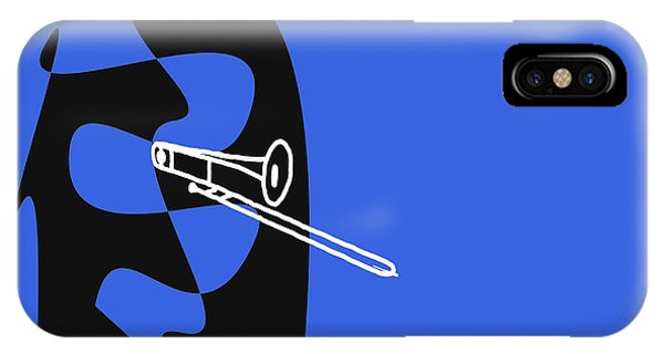 Trombone In Blue IPhone Case
