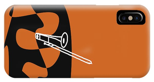 Trombone In Orange IPhone Case
