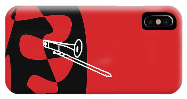 Trombone In Red IPhone Case