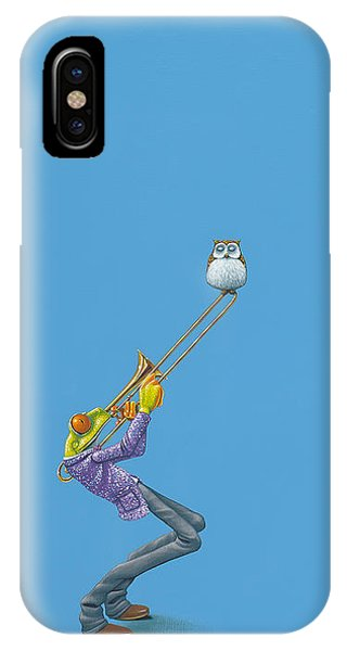 Amphibians iPhone Case - Trombone by Jasper Oostland