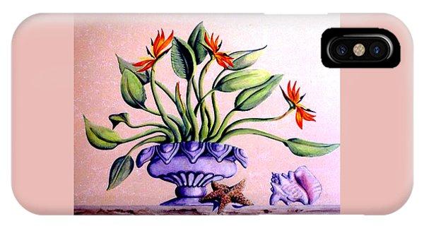 Trompe L'oeil  Birds Of Paradise IPhone Case