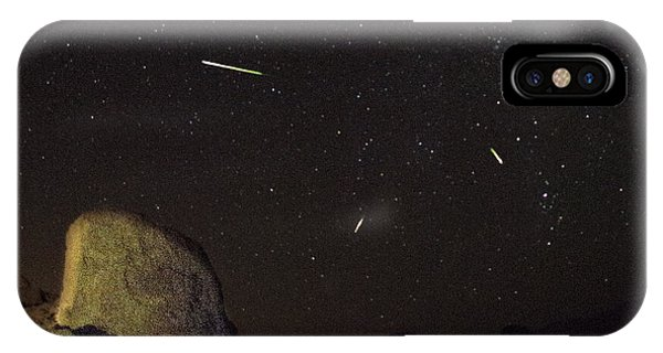Trona Pinnacles Perseids Meteor Shower IPhone Case