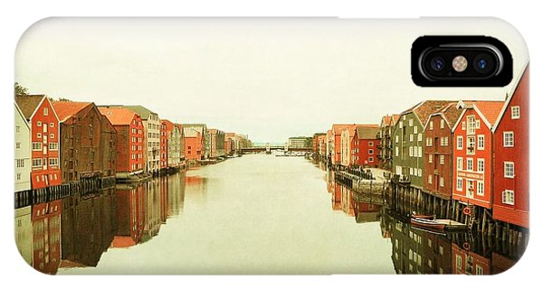 Trondheim On A Rainy Day IPhone Case