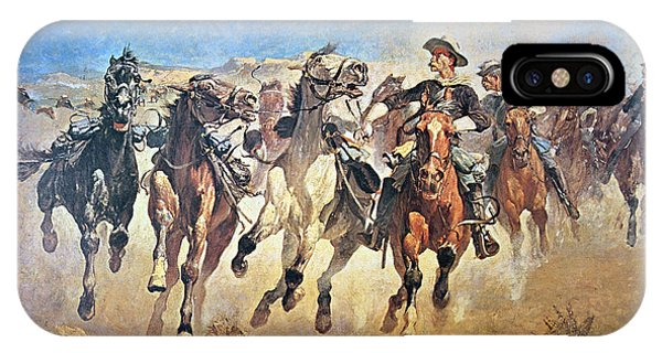 Cavalry iPhone Case - Troopers Moving by Frederic Remington