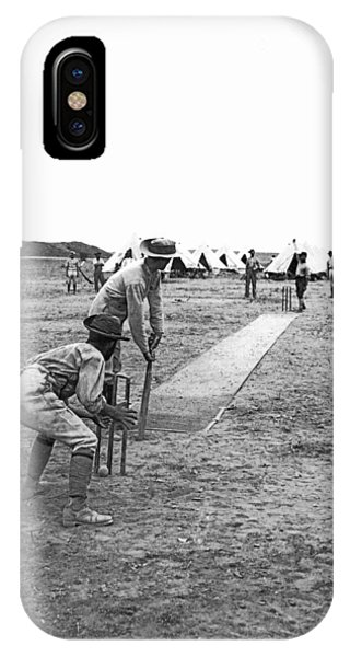 Troops Playing Cricket IPhone Case
