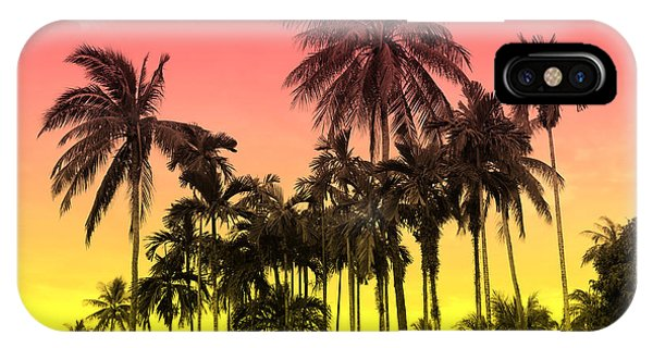 Retro iPhone Case - Tropical 9 by Mark Ashkenazi