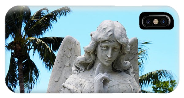 Tropical Angel With Tear IPhone Case