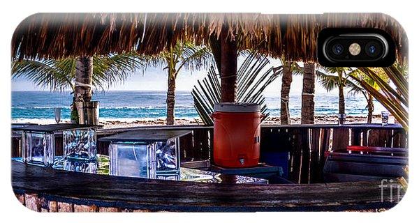 Tiki Bar iPhone Case - Tropical Beach Bar by Gary Keesler