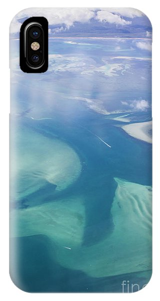 Qld iPhone Case - Tropical Blue Ocean Aerial Landscape by Jorgo Photography - Wall Art Gallery