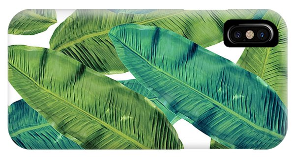 Leaf iPhone Case - Tropical Colors 2 by Mark Ashkenazi