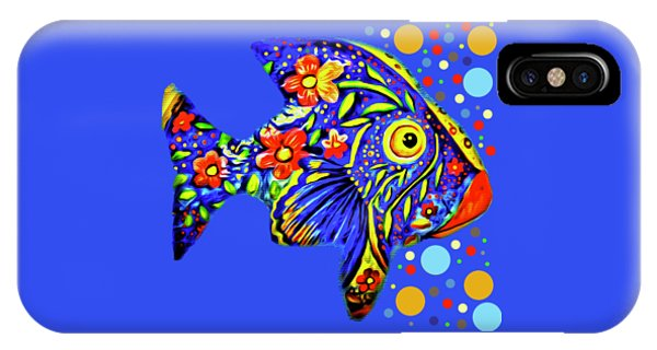 IPhone Case featuring the digital art  Tropical Fish by Eleni Mac Synodinos