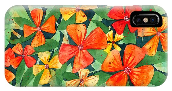 Tropical Flower Splash IPhone Case