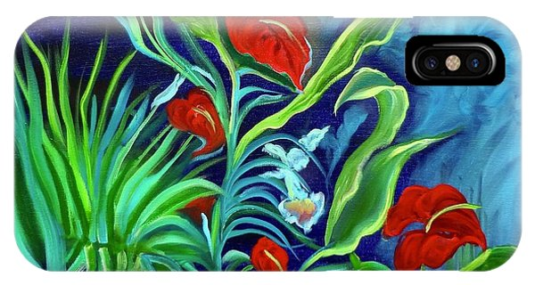 Tropical Flowers 1 IPhone Case
