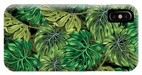 Leaf iPhone Case - Tropical Haven 2 by Mark Ashkenazi