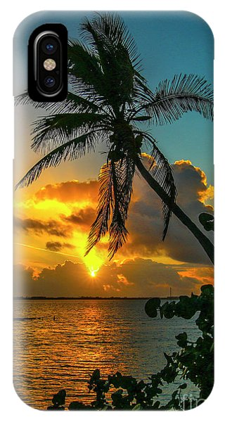 Tropical Lagoon Sunrise IPhone Case