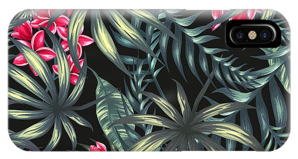 Leave iPhone Case - Tropical Leaf Pattern  by Stanley Wong
