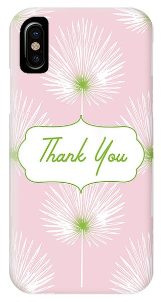 Bar Mitzvah iPhone Case - Tropical Leaf Thank You- Art By Linda Woods by Linda Woods