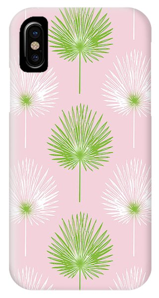 Leaf iPhone Case - Tropical Leaves On Pink 2- Art By Linda Woods by Linda Woods
