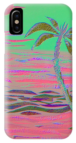Hot Pink Coconut Palm IPhone Case