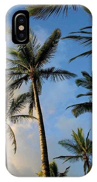 IPhone Case featuring the photograph Tropical Palm Trees Of Maui Hawaii by Pierre Leclerc Photography