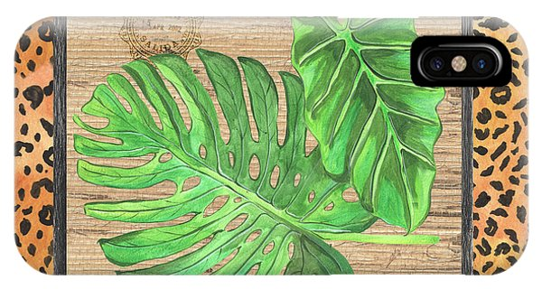 Botany iPhone Case - Tropical Palms 2 by Debbie DeWitt
