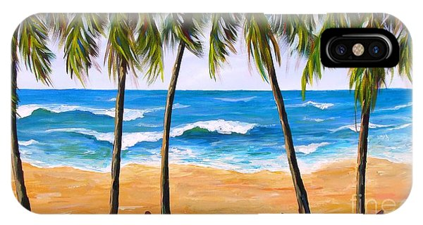 IPhone Case featuring the painting Tropical Palms 2 by Phyllis Howard