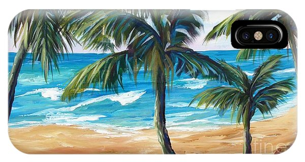 IPhone Case featuring the painting Tropical Palms I by Phyllis Howard