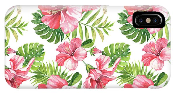 Hibiscus Flower iPhone Case - Tropical Paradise-jp3962 by Jean Plout