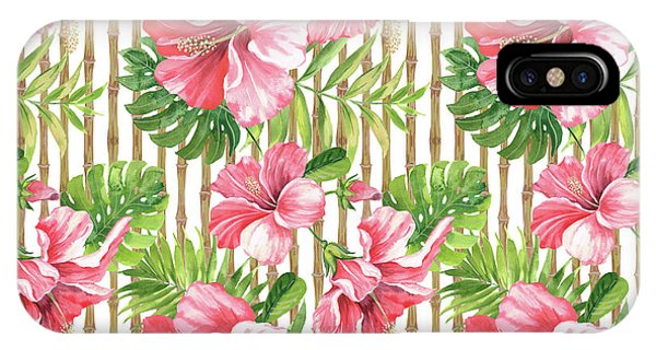 Hibiscus Flower iPhone Case - Tropical Paradise-jp3964 by Jean Plout