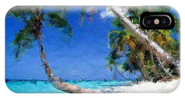 Tropical Seaside IPhone Case