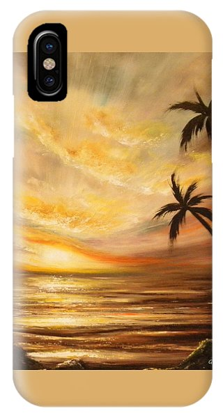 Tropical Sunset 64 IPhone Case