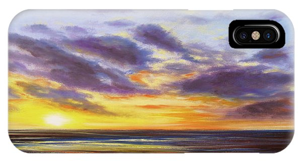 Tropical Sunset Panoramic Painting IPhone Case