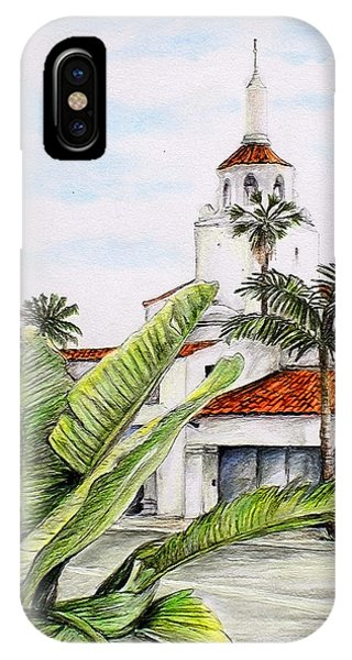 Tropical View Arlington Theater Santa Barbara IPhone Case