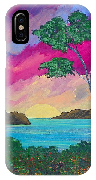 Tropical Volcano IPhone Case