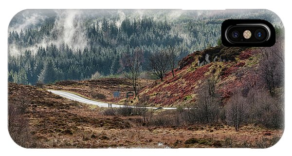 IPhone Case featuring the photograph Trossachs National Park In Scotland by Jeremy Lavender Photography