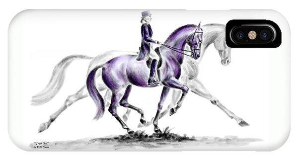 Trot On - Dressage Horse Print Color Tinted IPhone Case