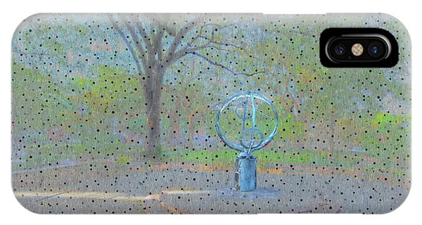 Park Bench iPhone Case - Troup Square  by Larry Braun