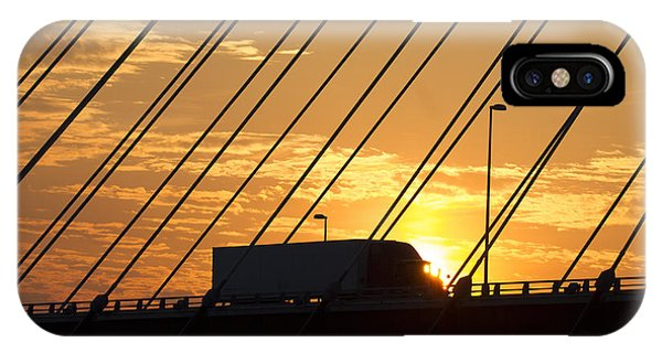 Trucking iPhone Case - Truck Crossing The Mississippi River by Garry McMichael