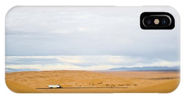 Truck Driving Through Desert IPhone Case