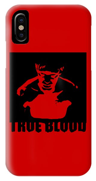 Jason Terry iPhone Case - True Blood  Eric Northman Vampire Stencil by Paul Telling