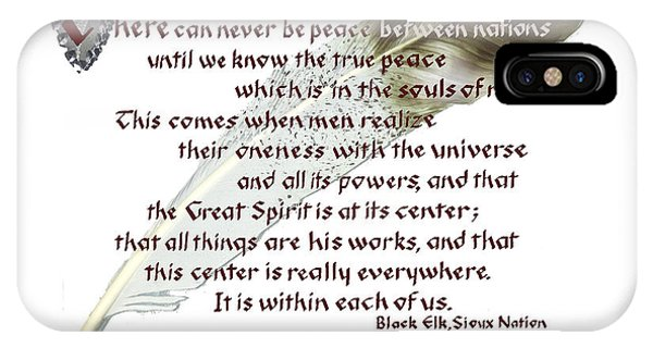 True Peace By Black Elk IPhone Case