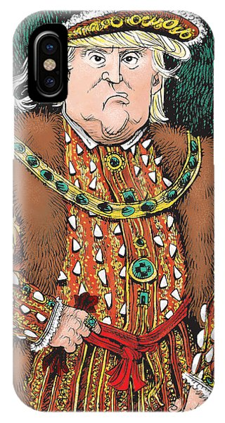 Trump As King Henry Viii IPhone Case